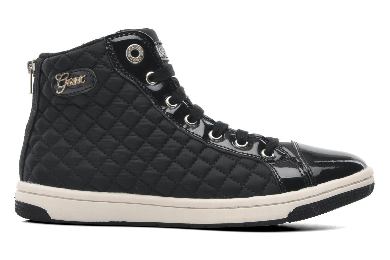 Sneaker Geox J CREAMY A - NYLON+VERN.SINT. schwarz ansicht von hinten