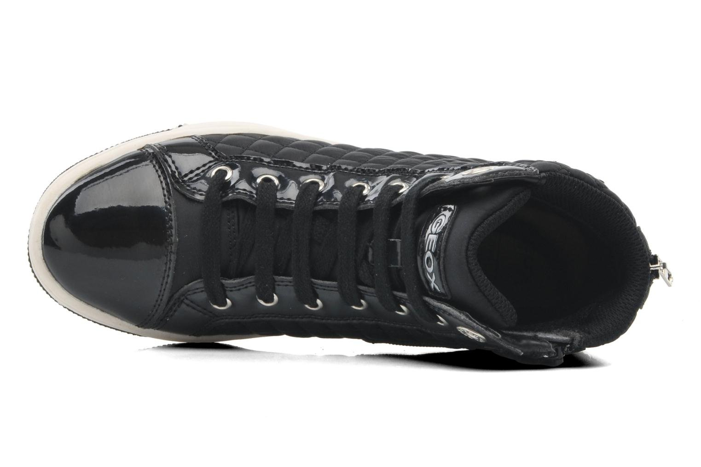 Sneaker Geox J CREAMY A - NYLON+VERN.SINT. schwarz ansicht von links