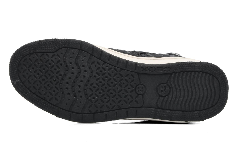 Sneaker Geox J CREAMY A - NYLON+VERN.SINT. schwarz ansicht von oben