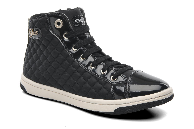 Sneaker Geox J CREAMY A - NYLON+VERN.SINT. schwarz detaillierte ansicht/modell