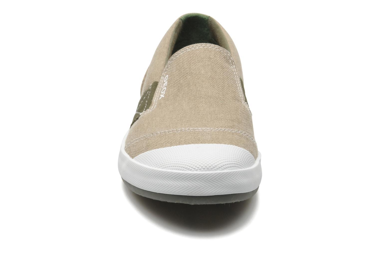 Sneaker Geox J KIWI B. J - TELA beige schuhe getragen