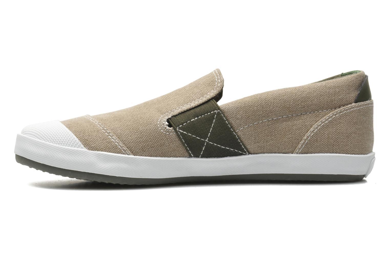 Sneaker Geox J KIWI B. J - TELA beige ansicht von vorne