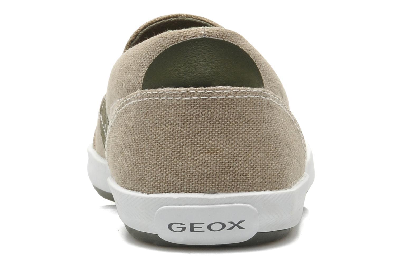 Sneaker Geox J KIWI B. J - TELA beige ansicht von rechts