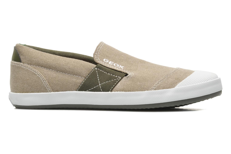 Sneaker Geox J KIWI B. J - TELA beige ansicht von hinten