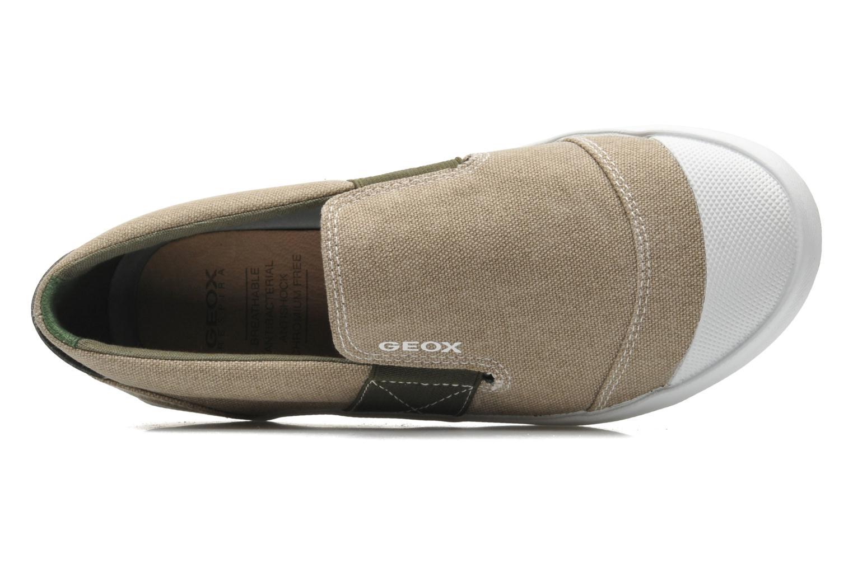 Sneaker Geox J KIWI B. J - TELA beige ansicht von links