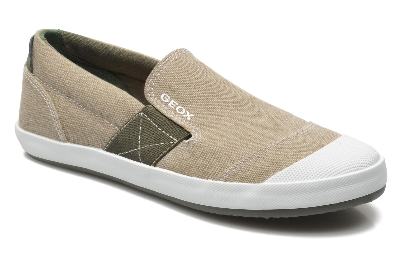 Sneaker Geox J KIWI B. J - TELA beige detaillierte ansicht/modell