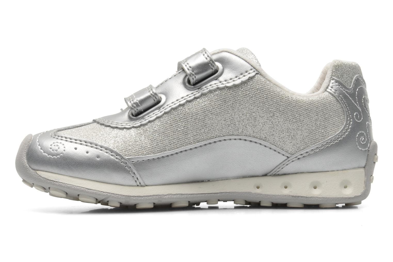 Sneaker Geox J N.JOCKER G.D- TES.BR+GBK PER silber ansicht von vorne