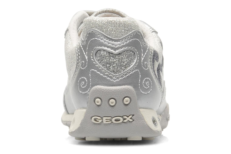 Sneaker Geox J N.JOCKER G.D- TES.BR+GBK PER silber ansicht von rechts