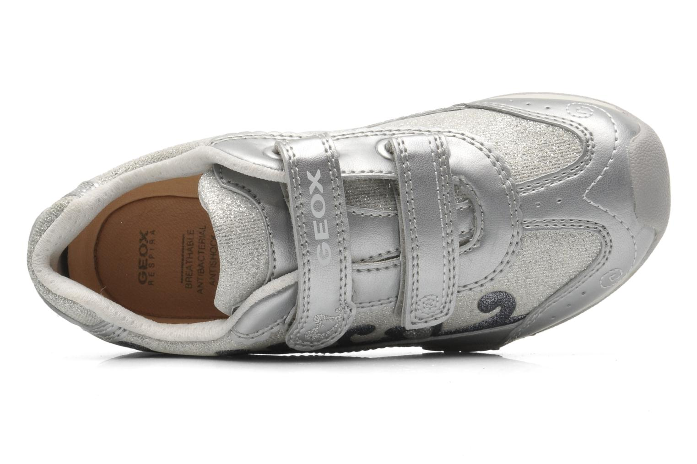 Sneaker Geox J N.JOCKER G.D- TES.BR+GBK PER silber ansicht von links