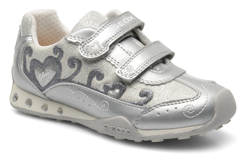 Sneaker Geox J N.JOCKER G.D- TES.BR+GBK PER silber detaillierte ansicht/modell
