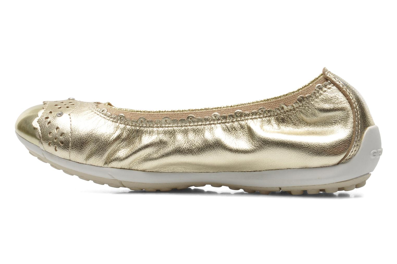 Ballerinas Geox J PIUMA BALL A - CAPRA PERL. gold/bronze ansicht von vorne
