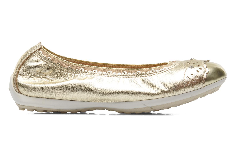 Ballerinas Geox J PIUMA BALL A - CAPRA PERL. gold/bronze ansicht von hinten