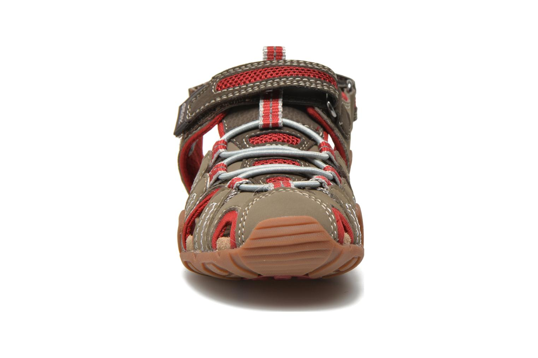 Sandalen Geox J Sand Kraze G J5224G braun schuhe getragen