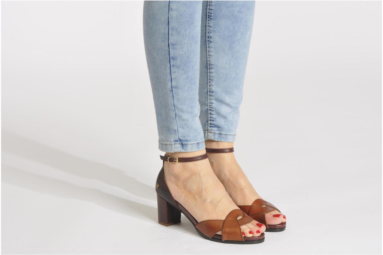 Sandales et nu-pieds Neosens Moll 487 Marron vue bas / vue portée sac