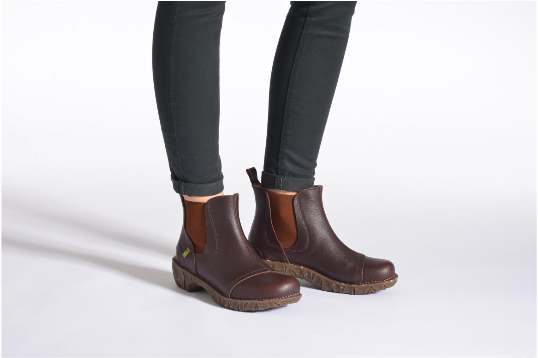 Bottines et boots El Naturalista Yggdrasil N158 Marron vue bas / vue portée sac