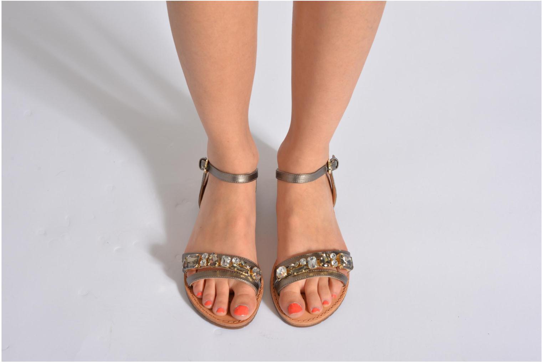 Sandales et nu-pieds Geox D JOLANDA O-D5275O Or et bronze vue bas / vue portée sac