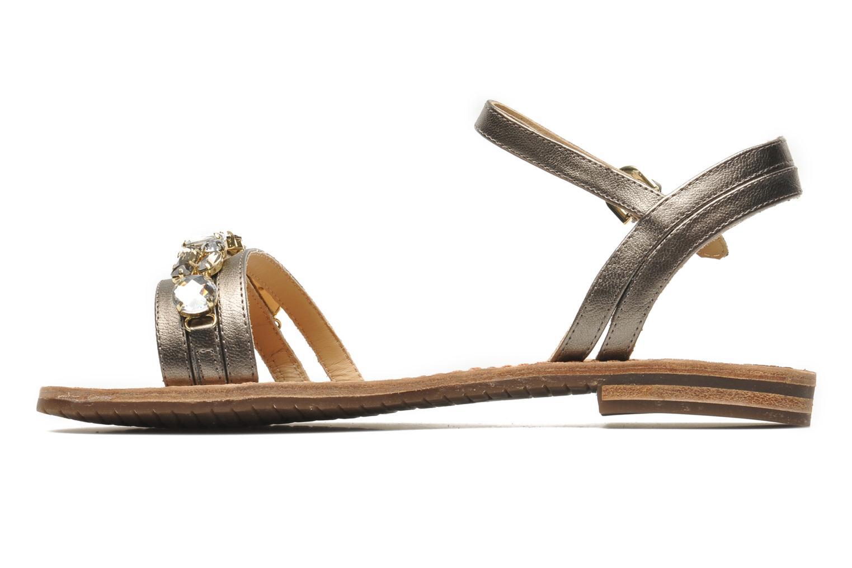 Sandales et nu-pieds Geox D JOLANDA O-D5275O Or et bronze vue face