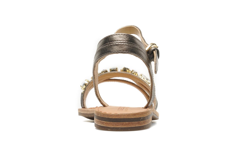 Sandales et nu-pieds Geox D JOLANDA O-D5275O Or et bronze vue droite