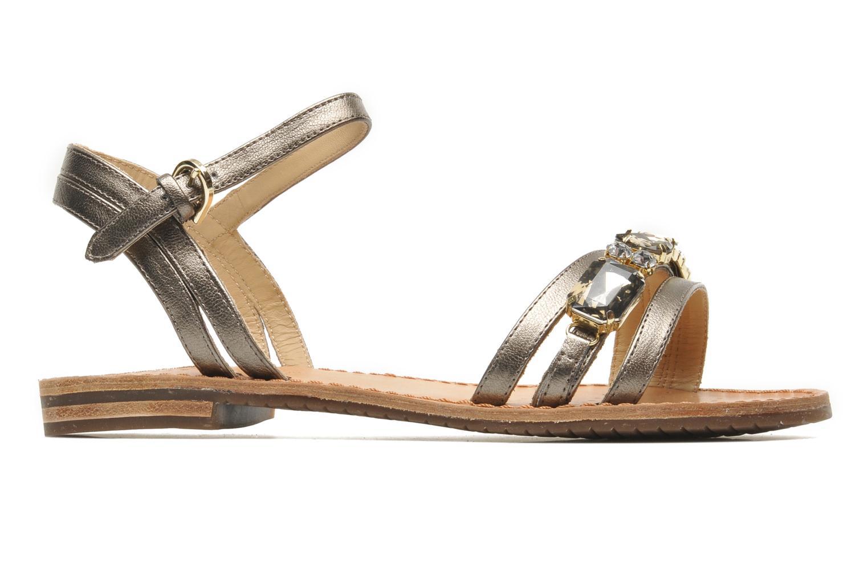 Sandales et nu-pieds Geox D JOLANDA O-D5275O Or et bronze vue derrière
