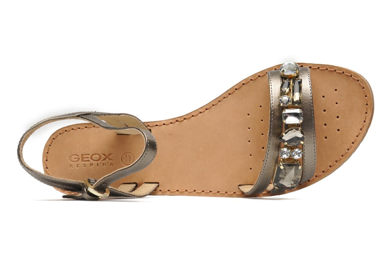 Sandales et nu-pieds Geox D JOLANDA O-D5275O Or et bronze vue gauche
