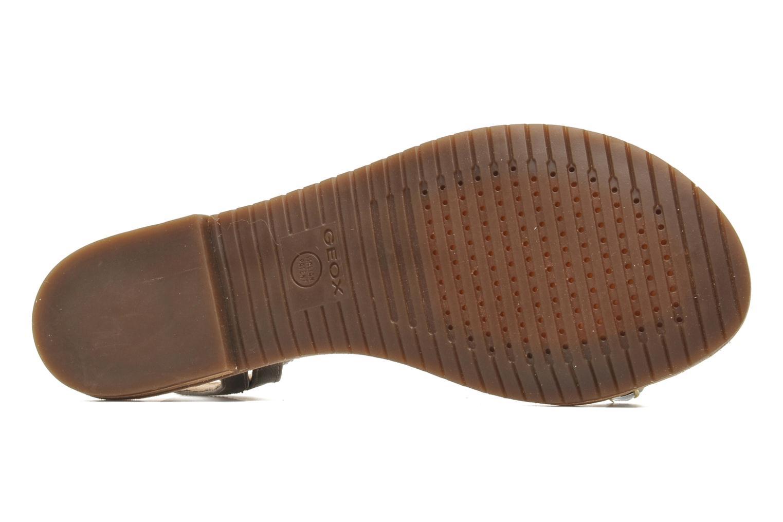 Sandales et nu-pieds Geox D JOLANDA O-D5275O Or et bronze vue haut