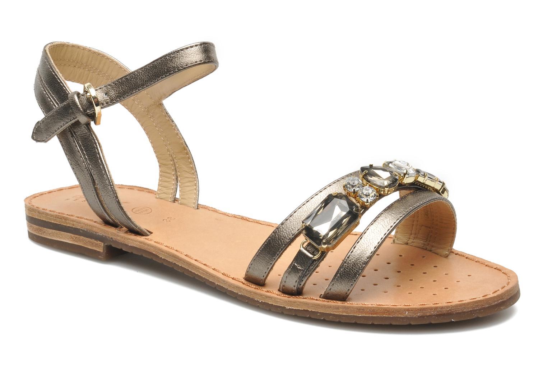 Sandales et nu-pieds Geox D JOLANDA O-D5275O Or et bronze vue détail/paire