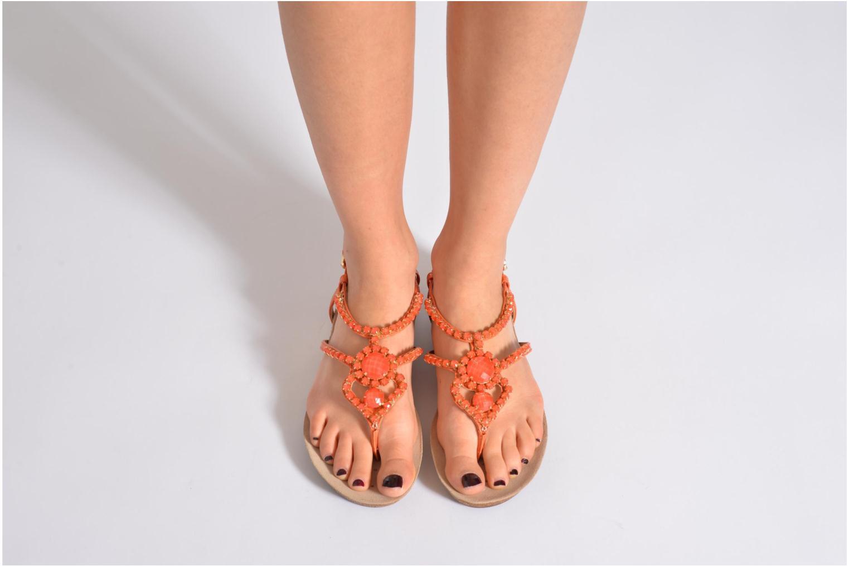 Sandales et nu-pieds Geox D VINCA F-D5297F Orange vue bas / vue portée sac