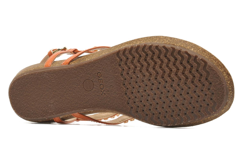 Sandales et nu-pieds Geox D VINCA F-D5297F Orange vue haut