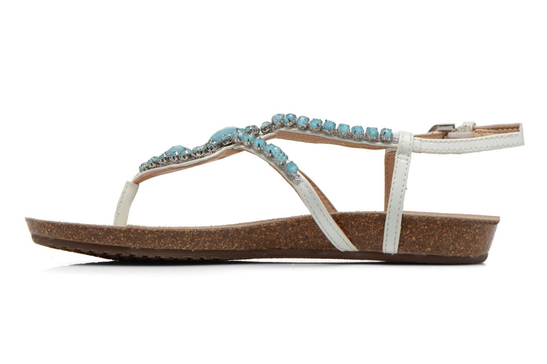 Sandales et nu-pieds Geox D VINCA F-D5297F Blanc vue face
