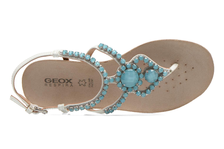 Sandales et nu-pieds Geox D VINCA F-D5297F Blanc vue gauche