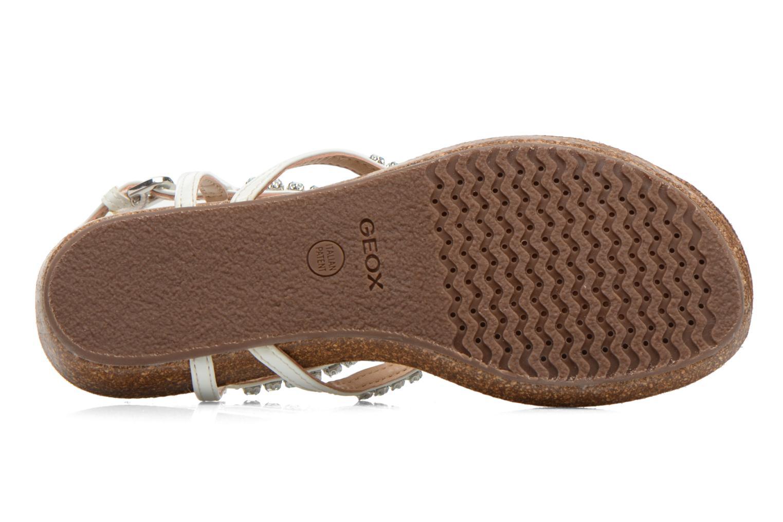 Sandales et nu-pieds Geox D VINCA F-D5297F Blanc vue haut