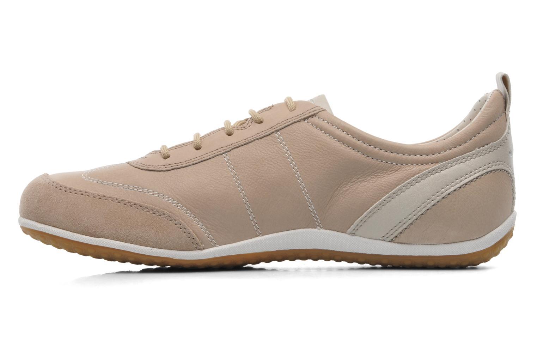 Sneaker Geox D VEGA A D3209A beige ansicht von vorne