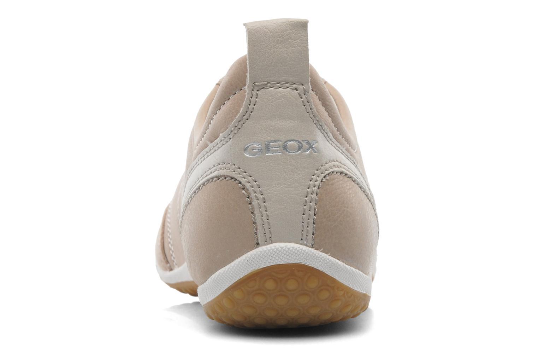 Sneaker Geox D VEGA A D3209A beige ansicht von rechts