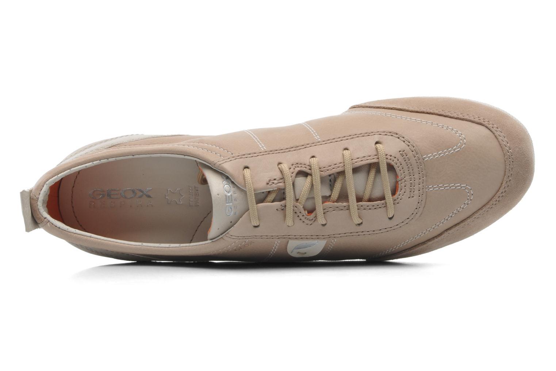 Sneaker Geox D VEGA A D3209A beige ansicht von links