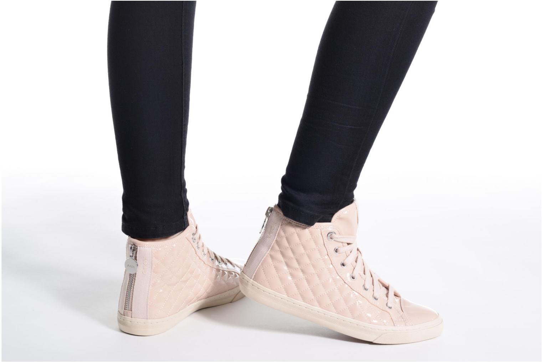 Sneaker Geox D NEW CLUB A D4258A schwarz ansicht von unten / tasche getragen