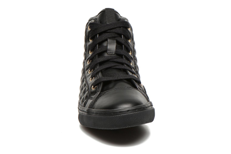 Sneaker Geox D NEW CLUB A D4258A schwarz schuhe getragen