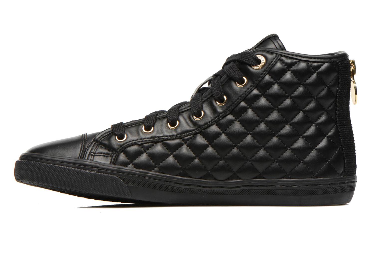 Sneaker Geox D NEW CLUB A D4258A schwarz ansicht von vorne