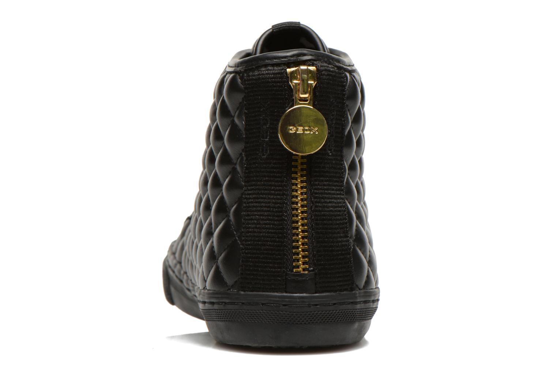 Sneaker Geox D NEW CLUB A D4258A schwarz ansicht von rechts