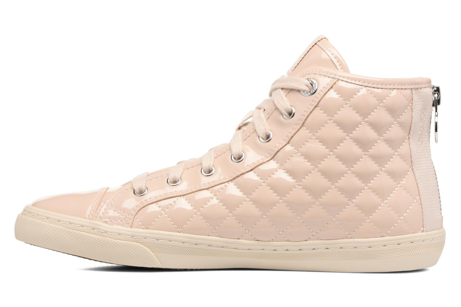 Trainers Geox D NEW CLUB A D4258A Beige front view
