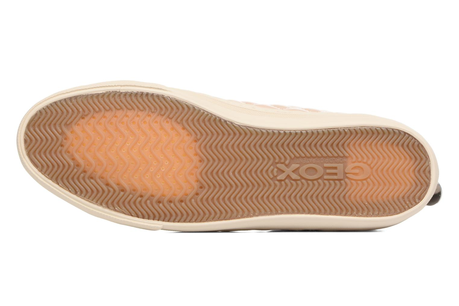 Trainers Geox D NEW CLUB A D4258A Beige view from above