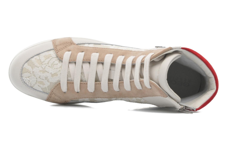 Sneaker Geox D PRUDENCE F D5207F beige ansicht von links