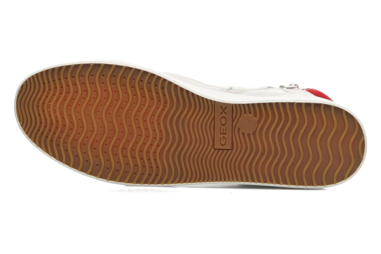 Sneaker Geox D PRUDENCE F D5207F beige ansicht von oben