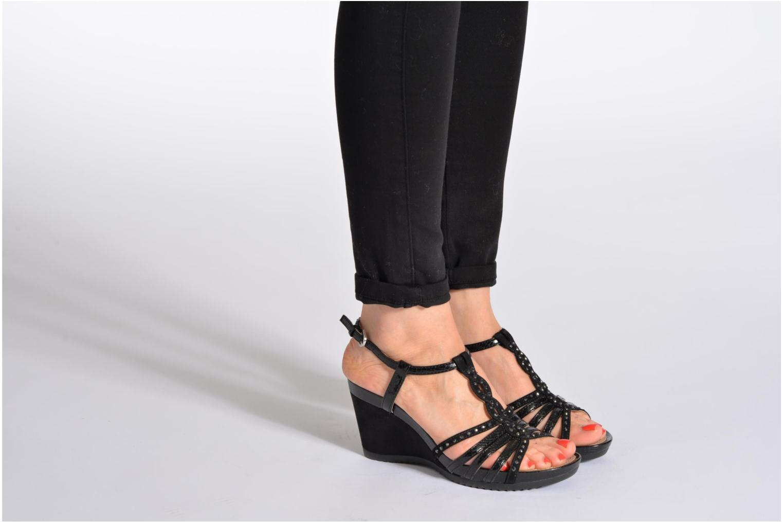Sandales et nu-pieds Geox D NEW Rorie C D52P3C Or et bronze vue bas / vue portée sac