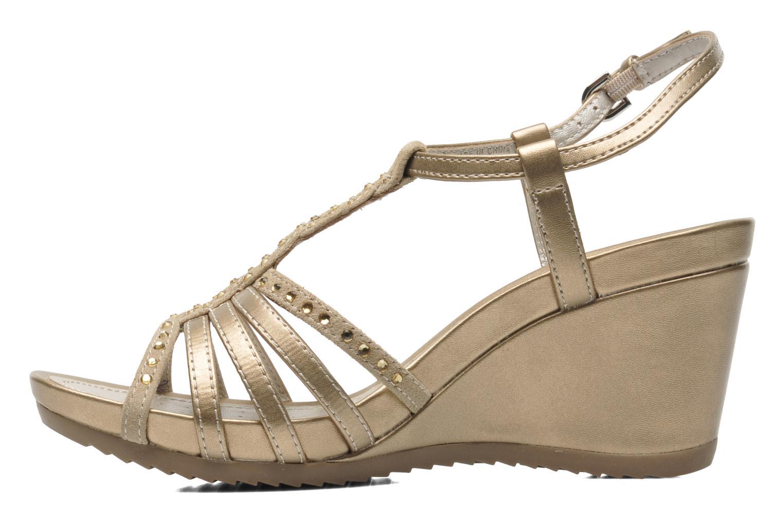 Sandales et nu-pieds Geox D NEW Rorie C D52P3C Or et bronze vue face