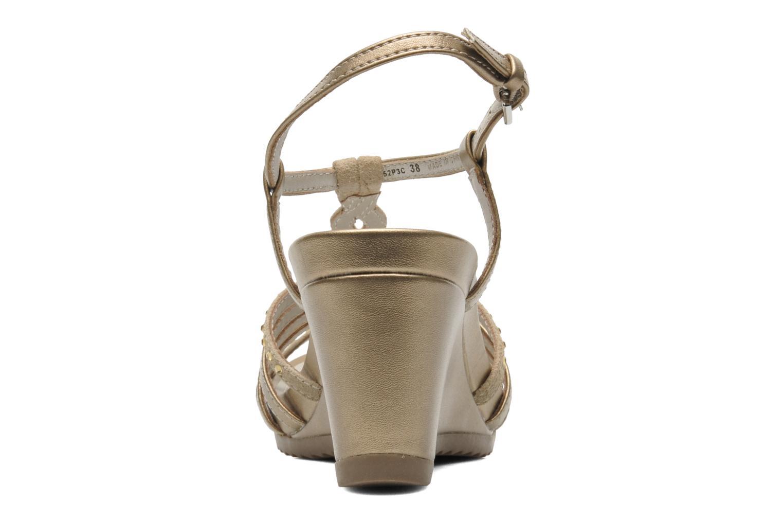Sandales et nu-pieds Geox D NEW Rorie C D52P3C Or et bronze vue droite
