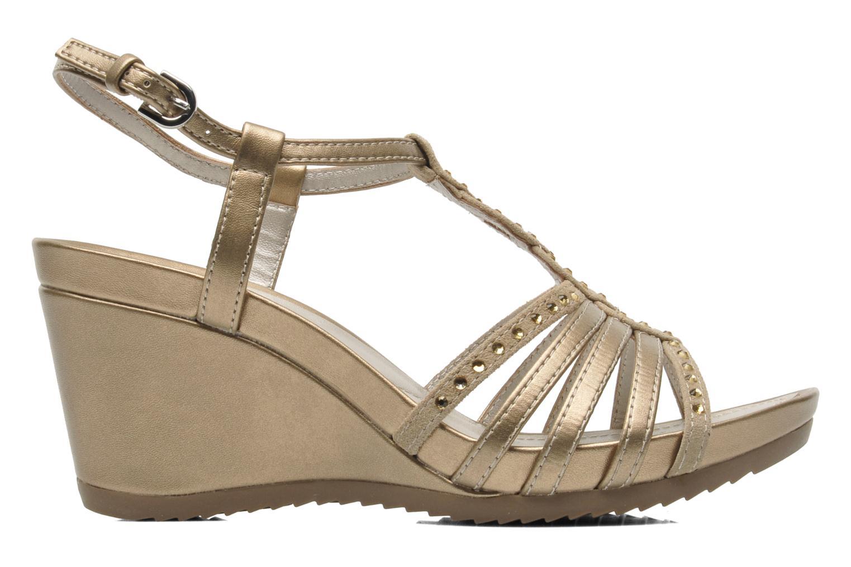 Sandales et nu-pieds Geox D NEW Rorie C D52P3C Or et bronze vue derrière