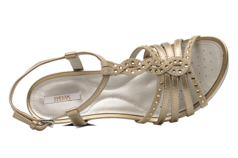 Sandales et nu-pieds Geox D NEW Rorie C D52P3C Or et bronze vue gauche