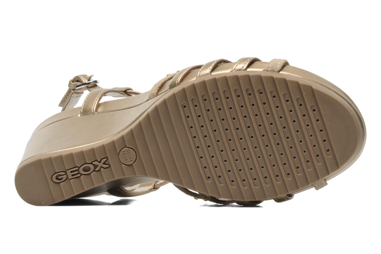 Sandales et nu-pieds Geox D NEW Rorie C D52P3C Or et bronze vue haut