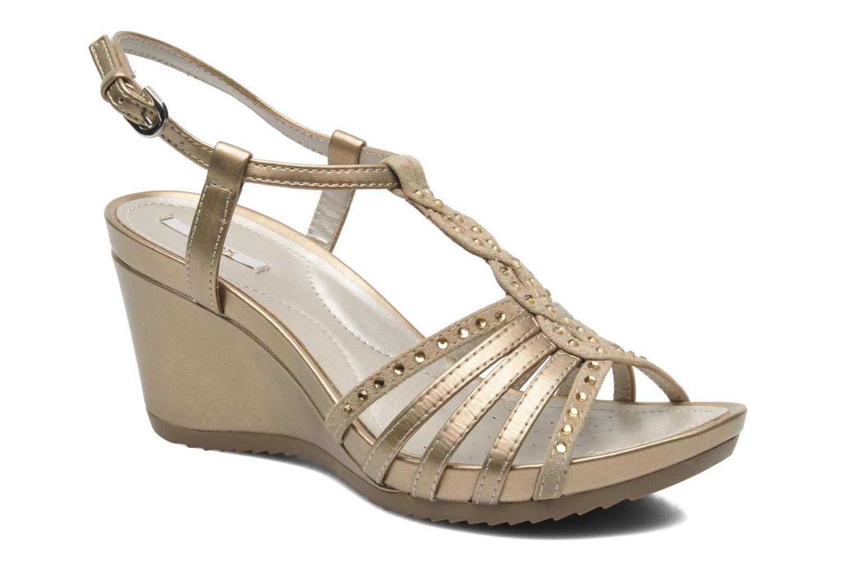 Sandales et nu-pieds Geox D NEW Rorie C D52P3C Or et bronze vue détail/paire