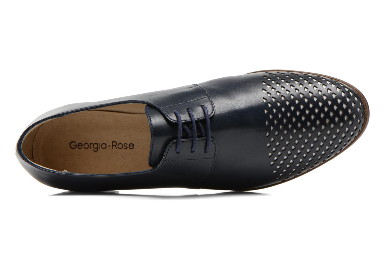 Schnürschuhe Georgia Rose Tatco blau ansicht von links